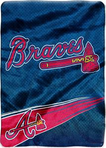 Northwest MLB Atlanta Braves Tie Dye Plush Throw