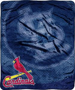 Northwest MLB Cardinals Tie Dye Plush Throw