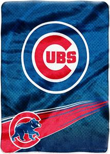 Northwest MLB Chicago Cubs Tie Dye Plush Throw
