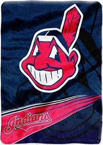 Northwest MLB Indians Tie Dye Super Plush Throw