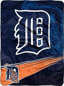 Northwest MLB Detroit Tigers Tie Dye Plush Throw