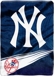 Northwest MLB New York Yankess Tie Dye Plush Throw