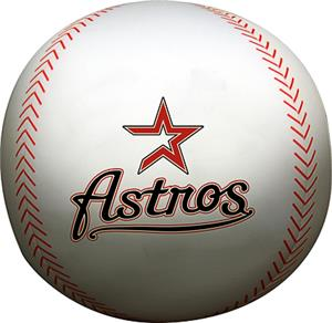 Northwest MLB Astros Beaded Baseball Pillow