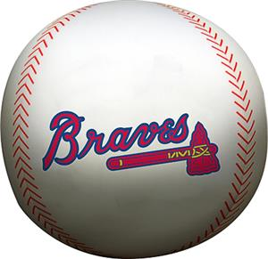 Northwest MLB Braves Beaded Baseball Pillow