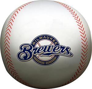 Northwest MLB Brewers Beaded Baseball Pillow