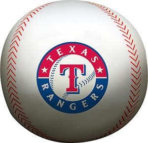 Northwest MLB Texas Rangers Beaded Baseball Pillow