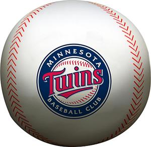 Northwest MLB Twins Beaded Baseball Pillow