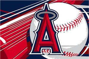 Northwest MLB LA Angels Acrylic Tufted Rug
