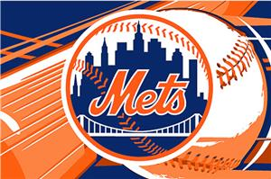 Northwest MLB New York Mets Acrylic Tufted Rug