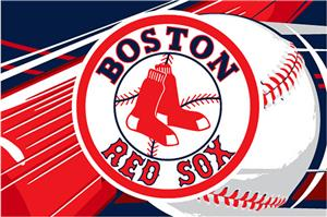 Northwest MLB Boston Red Sox Acrylic Tufted Rug