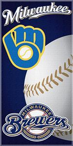Northwest MLB Brewers 30&quot;x60&quot; Beach Towels