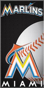 "Northwest MLB Miami Marlins 30""x60"" Beach Towels"