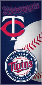 "Northwest MLB Minnesota Twins 30""x60"" Beach Towels"