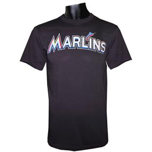 Majestic MLB Crewneck Miami Marlins Replica Jersey