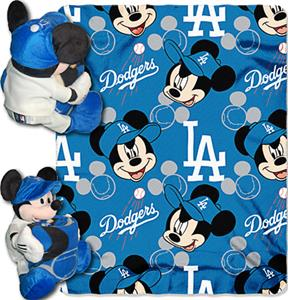 "Northwest MLB LA Dodgers 40""x50"" Mickey Throws"