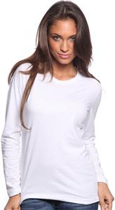 Royal Apparel Womens L/S Fine Jersey Crew Tee