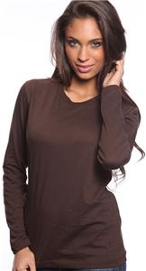 Royal Apparel Womens L/S Organic Jersey Crew Tee