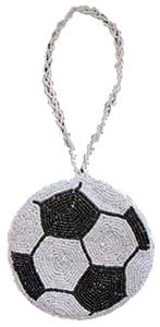 Rixstine Soccer Beaded Coin Purse