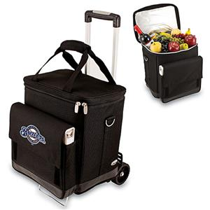 Picnic Time MLB Milwaukee Brewers Cellar w/Trolley
