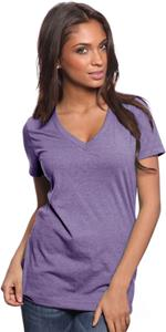 Royal Apparel Womens 50/50 Blend V-Neck Tee