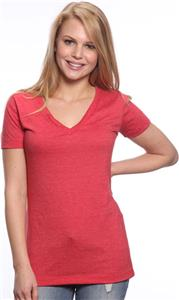 Royal Apparel Womens 50/50 Blend V-Neck Jersey Tee