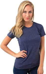 Royal Apparel Womens Triblend Old School Gym Tee