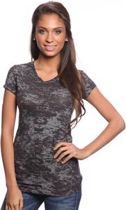 Royal Apparel Womens Burnout V-Neck Tee
