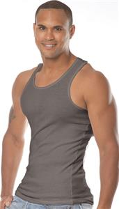 Royal Apparel Mens 2x1 Rib Tank Top