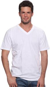 Royal Apparel Mens 50/50 Blend V-Neck Tee