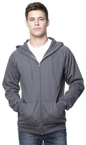 Royal Apparel Mens Organic Fleece Full Zip Hoodie