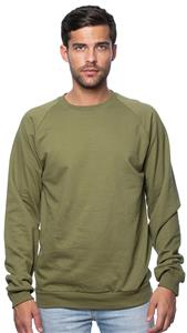 Royal Apparel Mens Organic Raglan Crew Sweatshirt