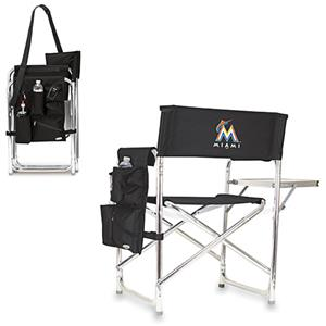 Picnic Time MLB Miami Marlins Folding Sport Chair