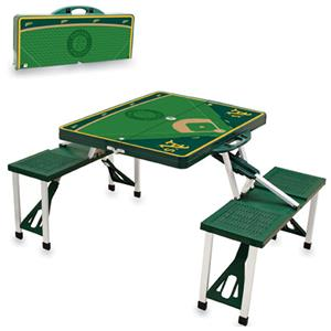 Picnic Time MLB Oakland Athletics Picnic Table