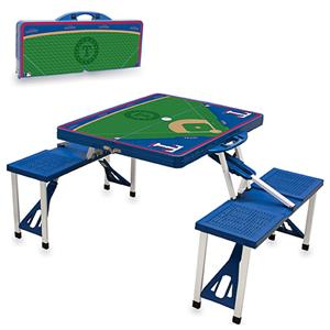 Picnic Time MLB Texas Rangers Picnic Table
