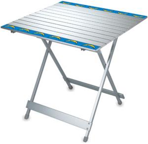 Picnic Time NFL San Diego Chargers Travel Table