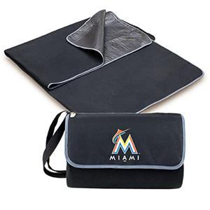 Picnic Time MLB Miami Marlins Outdoor Blanket