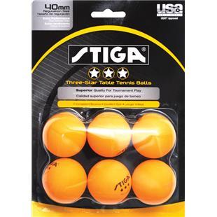 Escalade Sports Stiga 3-Star Table Tennis Balls