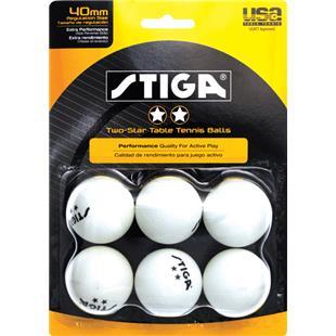 Escalade Sports Stiga 2-Star Table Tennis Balls