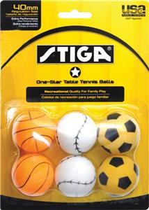 Escalade Sports Stiga 1-Star Table Tennis Balls