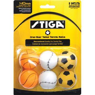 Escalade Sports Stiga 1-Star Table Tennis Balls