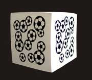 "Rixstine Soccer 3"" Square Paper Note Cube"