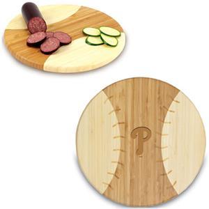 Picnic Time MLB Phillies Baseball Cutting Board