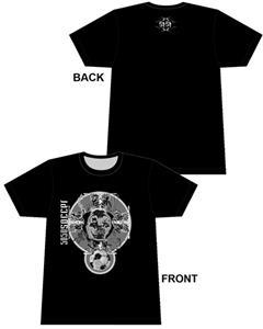 50/50 Soccer Skull Crest Soccer tshirt gifts