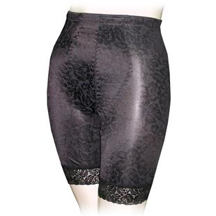 Long Leg Jacquard Print Panty Girdles-Closeout