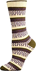 E. G. Smith Recycled Fringe Benefits Crew Socks