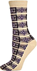 E. G. Smith Womens Recycled Art Deco Crew Socks