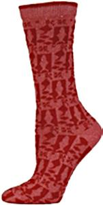 E. G. Smith Women Recycled Country Fish Crew Socks
