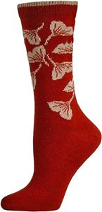 E. G. Smith Women Recycled Ginko Leaves Crew Socks