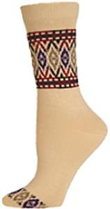 E. G. Smith Organic Placed Bracelet Crew Socks