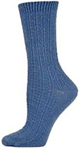 E. G. Smith Womens Hemp Textured Rib Crew Socks